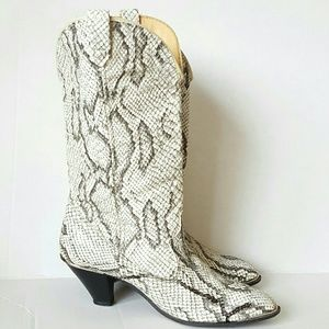 ACME vintage snakeskin cowboy boots